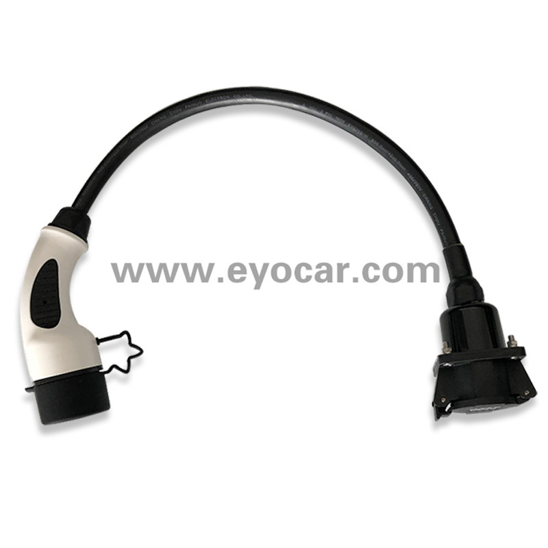 Type 1 to type 2 adapter 16A 32A TUV