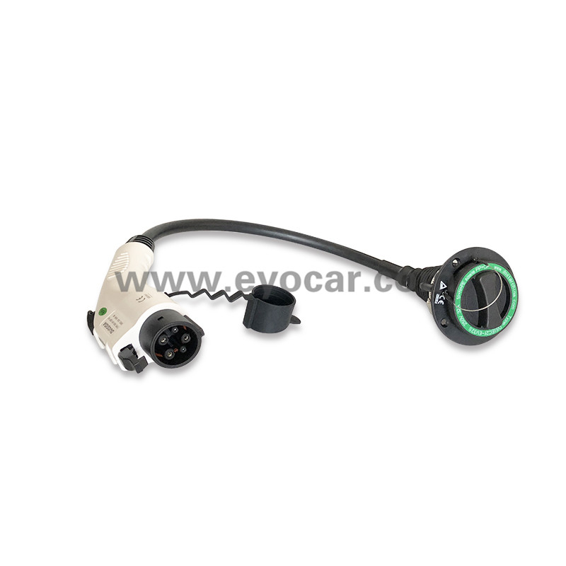 Type 2 socket to Type 1 adapter 16A 32A